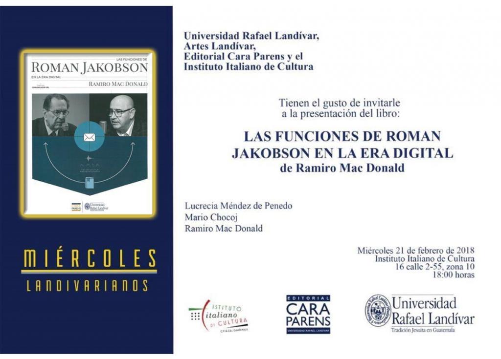 El miércoles 21 de febrero fue la presentación del libro de Ramiro Mc Donald en Guatemala.