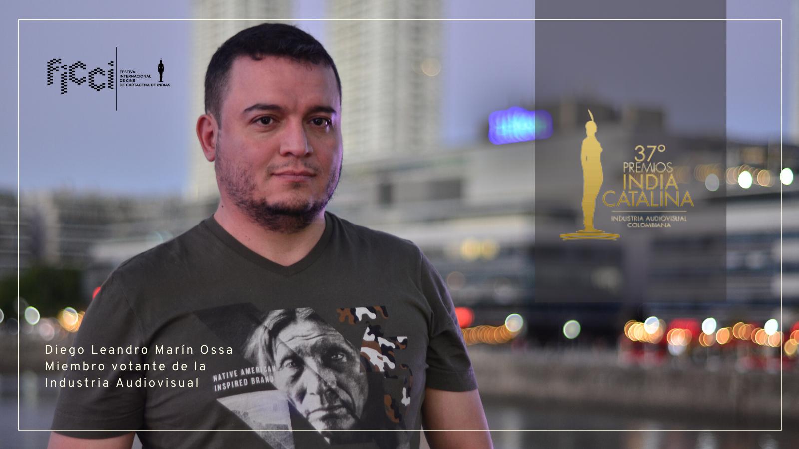 Diego Leandro Marin Ossa en los Premios India Catalina